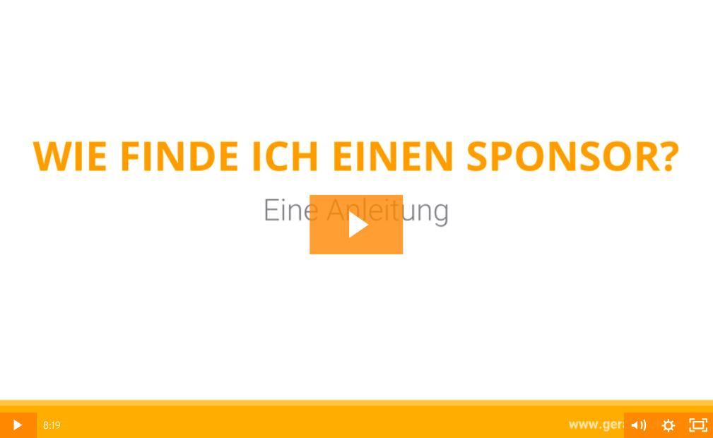 Videokurs Wie findet man einen Sponsor