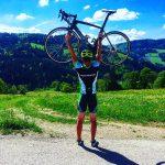 Antonio Rosa mit Fahrrad