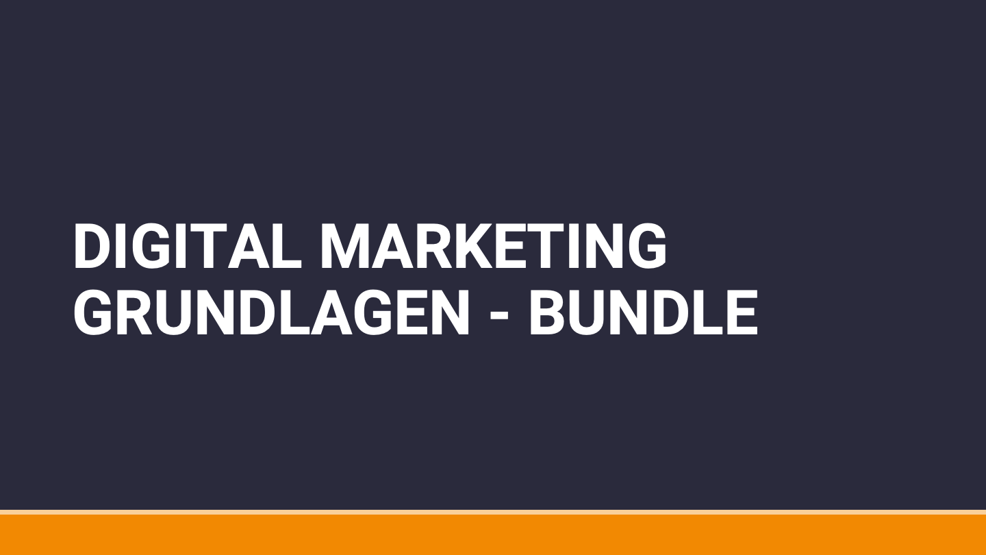 Digital Marketing Grundlagen Online Kurs