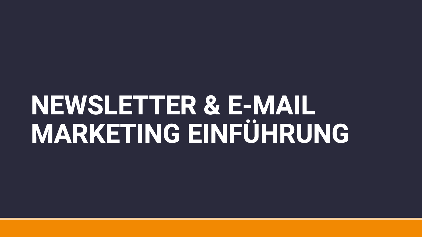 E-Mail Marketing Online Kurs
