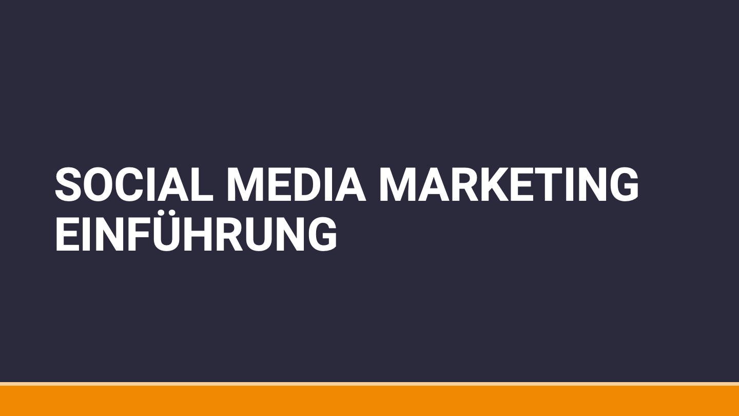 Social Media Marketing Einführungskurs